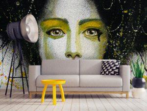 Wall art abstract wallpaper